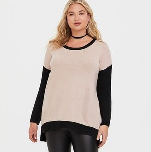 Torrid Colorblock Tunic Sweater